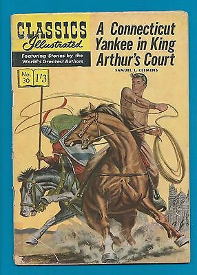 Classics Illustrated Comic Book #30 ConnecticutYankee in King Arthur's Court#799