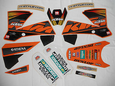 NSTYLE KTM DUNGEY MUSQUIN GRAPHICS KIT SX85 SX105 (09-12) w/ BLACK backgrounds