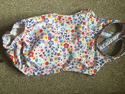 baby girls swimming costume age 9-12 months blue Flowery Pattern
