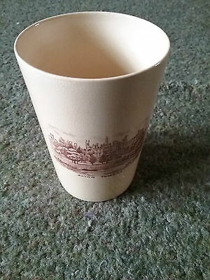 WH Goss Alton Towers George V and Mary Silver Jubilee commemorative beaker.