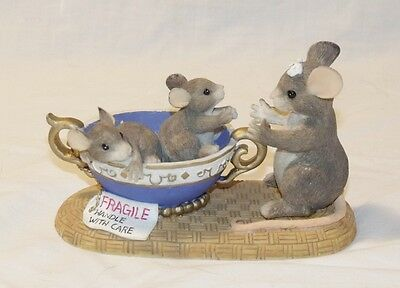 """Charming Tails """"FRAGILE HANDLE WITH CARE"""" Limited Edition"""