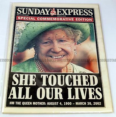 Queen Elizabeth Death Newspaper Sunday Express 31 March 2002 The Queen Mother