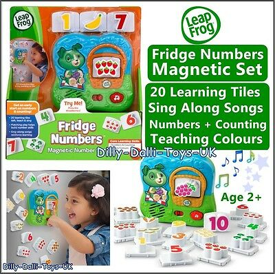 NEW Leapfrog LEAP FROG Fridge Numbers Magnetic Set Talking Songs Learning Toy 2+
