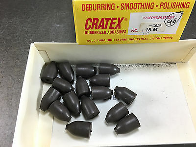 "(Lot of 16) Cratex 1/2"" Bullet Shaped Point Silicone Carbide Abrasive 15-M"