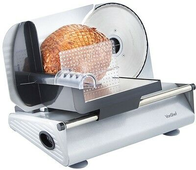 Electric Food Meat Slicer Cutting Machine Extra Blades Variable Slice Adjuster