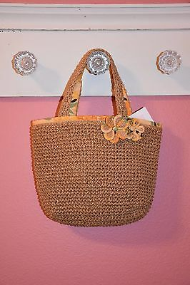NWT Janie Jack Sunny Hawaii Pineapple Straw Purse Bag Beach 4T,5T,6,7,8,9 SPRING