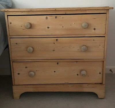 Antique chest of old pine drawers