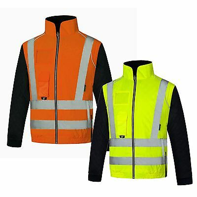 Hi Vis Body Warmer with Detachable Sleeves (BW001) XS - 4XL