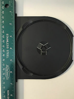Lot of 10 NEW Replacement DVD Case Trays Inserts Black Single Premium Hub Clip