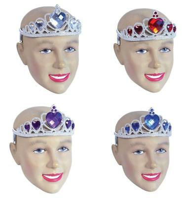 Tiara Gemstone Queen Of Hearts Fancy Dress Princess Fairy God Mother Hen Party