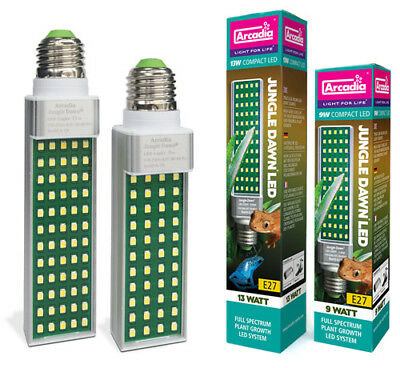 Arcadia Jungle Dawn LED Light 9W 13W Reptile Hydroponic