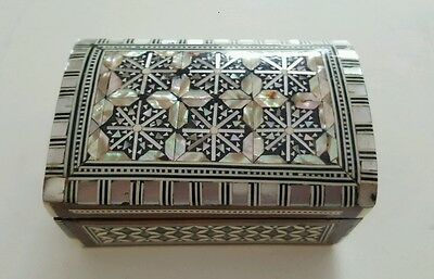 Egyptian Mosaic Mother of Pearl Inlaid Jewelry Intricate Trinket Box