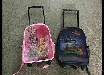 Brand New With Tags Children's Disney Fairies Rucksack/suitcase On Wheels