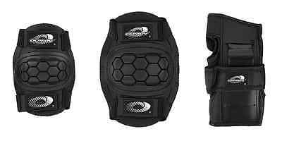 Boys Girls Childs Osprey Skate Cycle Knee, Elbow, Wrist Protection Pads Set - Bl