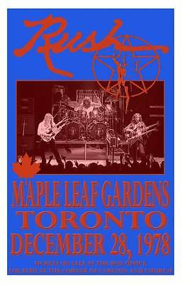 Rush Replica *maple Leaf Gardens* 1978 Concert Poster