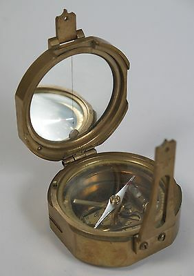 Brass pocket marching compass by Stanley London