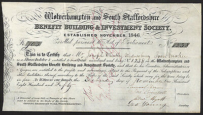 Wolverhampton & South Staffordshire Benefit Building & Investment Society, 1850