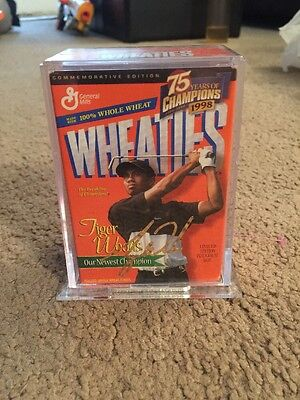 Tiger Woods 1998 Wheaties 24k Gold Signature Collectible
