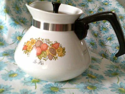 Vintage Coffee pot/Carafe Corning Ware Spice o'Life Le Thé GVC