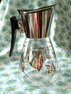 Vintage Coffee pot/Carafe Colony glass-stainless-black GVC