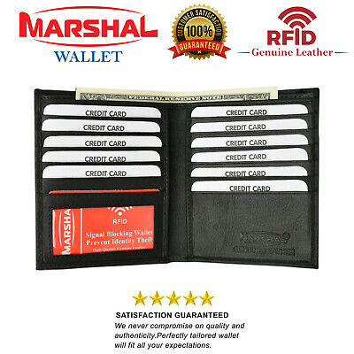 RFID Blocking Bifold Hipster Credit Card Slim Wallet Premium Lambskin Leather