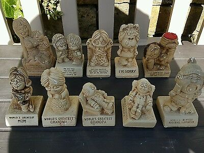 Rare Collection of Ten 1970s Paula Pottery figurines