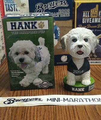 Hank the Dog Ball Park PUP 2014 Mini-Marathon 10K Milwaukee Brewers Bobblehead