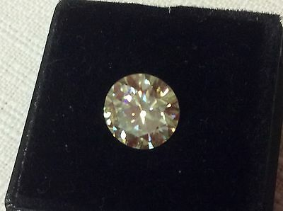Moissanite 1.74 Ct  Vsi3 White Yellow   Brilliant Cut Loose Real -Tested