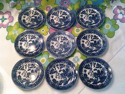 NEW LOW PRICE-Blue willow Japan 9 plate lot slightly different