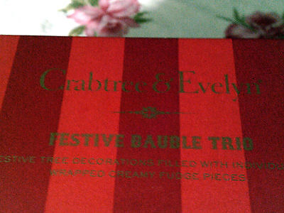 Festive Bauble trio C&E Christmas tree decoration-fill it with sweets VTG look