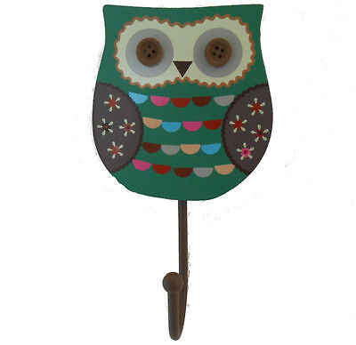 Sass and Belle Single Green Owl Hook