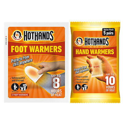 Hot Hands Hand Feet  Warmthers Foot Sports Heat Warming Hothands - 5 Pairs