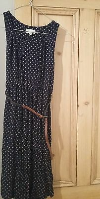 Next maternity dress size 8, blue with tan spots