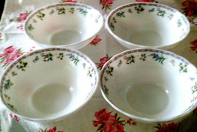 SALE-50%OFFGibson lot 4 salad bowls Glass vitrelle flowers/small fruits
