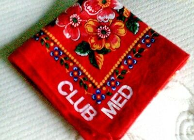Bandana/Scarf Club Med cotton beautiful Red/Multicolors cotton