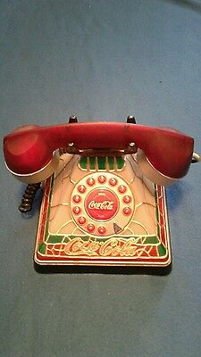 coca cola coke stained glass look push button phone