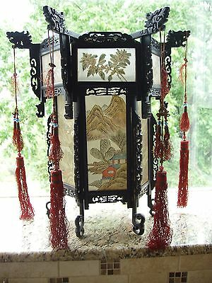 Antique 19th Century Carved Chinese Dragon Lantern