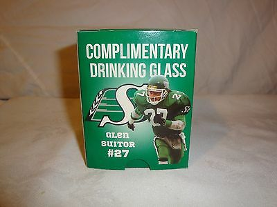 Saskatchewan Roughriders Glen Suitor Wisers Lambs Glass Nib