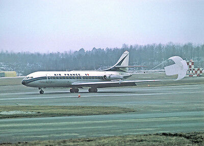 Air France Caravelle F-BHRC with parachute -  6x4 Print