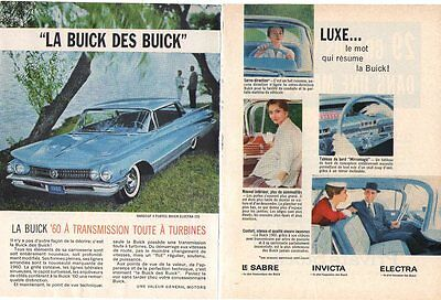 Ad  Buick  French 1960  6 Pages