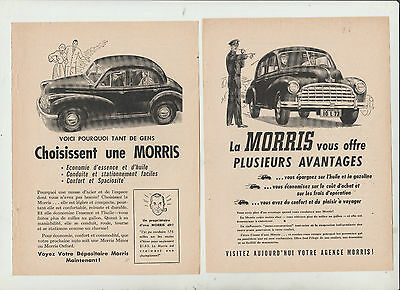 3 Ad  Morris 1951 French