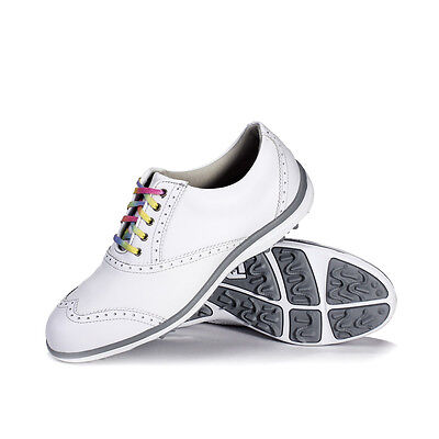 FootJoy CLOSEOUT Women's LoPro Collection Golf Shoes - White/Silver 97324