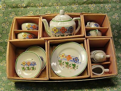 Vintage Children's Tea Set Made in Japan 4 Place Setting + C/S and Teapot