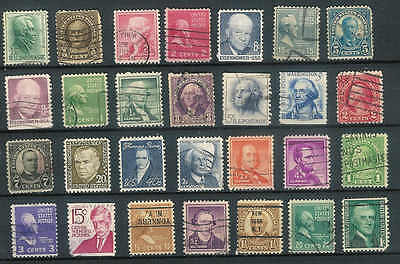 United States Patriots and statesmen Collection of 28 stamps used condition A29