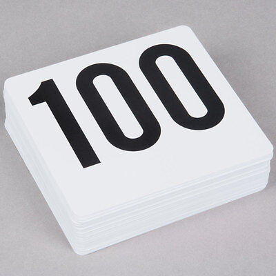 1 to 100 Plastic Table Number