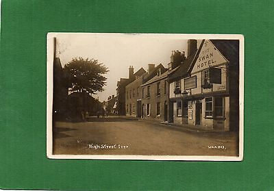 Real Photo Postcard High Street Iver Buckinghamshire Swan Hotel C.1920