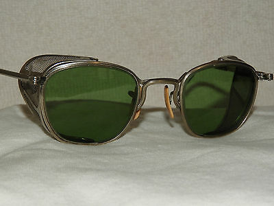 Vtg 30-40S Mt American Optical Ao Goggles Sunglass Motorcycle Safety Glasses Usa