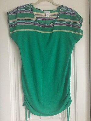 Women's Motherhood Maternity Top, Green, Size M