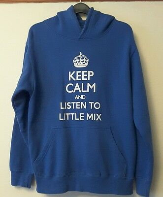 Blue sweatshirt hoody Little Mix Keep Calm design 11 to 12 years