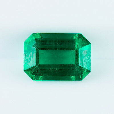 2Ct Natural Vivid Green Emerald Cut Deep Saturation Pgs Certified Ideal Color